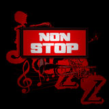 Sign non-stop music with trumpet and saxophone Royalty Free Stock Photo