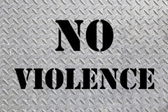 Sign non violence Stock Photos