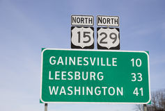 Sign in Northern Virginia Royalty Free Stock Images