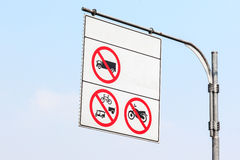 Sign not car less than 10 wheel Stock Photography