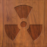 Sign nuclear energy on wood Stock Image