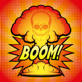 Sign of nuclear explosion. Stock Photo