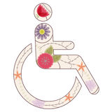 Sign Of Persons With Disabilities Vintage Royalty Free Stock Photos