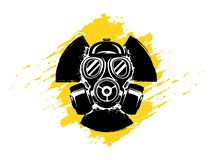 Free Sign Of Radioactivity With Gas Mask Grunge Vector Illustration. Concept Of Pollution And Danger. Radioactive Sign. Radioactive Royalty Free Stock Photo - 150891975