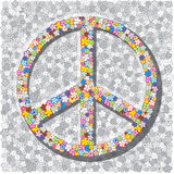 Sign Of The Pacifist On Gray Background. Royalty Free Stock Photos