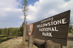 Sign off. Of the Yellowstone National Park, Usa Stock Image