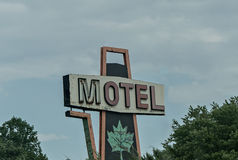 Sign. An old-fashioned motels sign Stock Images