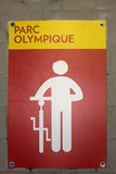Sign in Olympic Park in Montreal Royalty Free Stock Images