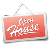 Sign Open house Royalty Free Stock Images