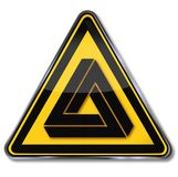 Optical illusion. Sign with optical illusion and triangle vector illustration