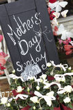 Sign Outside Florists Advertising Mother's Day Stock Photos