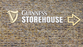 Sign outside the Guinness Storehouse Royalty Free Stock Photo