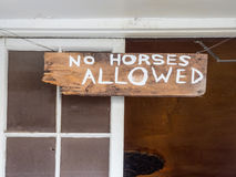 Sign over saloon door Royalty Free Stock Photography