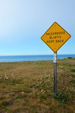 Sign on the Pacific ocean shore Royalty Free Stock Image