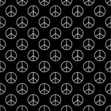 Sign pacifist seamless pattern background Royalty Free Stock Image