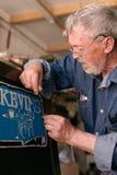Sign painter job Royalty Free Stock Photo