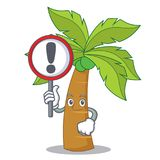With sign palm tree character cartoon Stock Photos