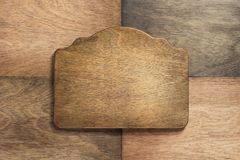 Sign Panel At Wooden Background Royalty Free Stock Images