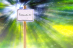Sign in paradise Royalty Free Stock Photos