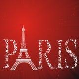 Sign Paris with eiffel tower Stock Photos