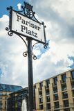 Sign in Paris square in Berlin Germany September 2107 stock photography