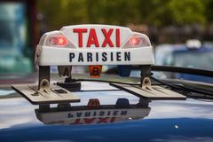 Sign of a Parisian taxi Stock Image