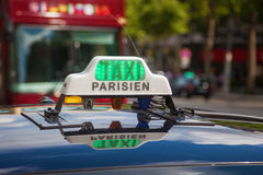 Sign of a Parisian taxi Royalty Free Stock Photography