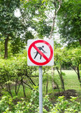 Sign in the park Royalty Free Stock Photos