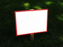 Sign in the park . stock photography