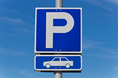 Sign parking Royalty Free Stock Photography