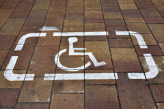 Sign of parking for disabled people Royalty Free Stock Images