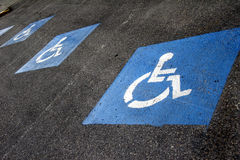 Sign - parking lot for wheelchair Royalty Free Stock Photography
