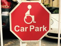 sign of parking space for disabled Royalty Free Stock Image