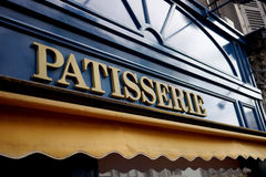 Sign for patisserie in france. Sign for a bakery in french village Stock Images