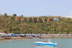 Sign of Pattaya City Royalty Free Stock Image