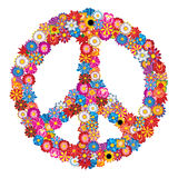 Sign of Peace. From flowers - isolated from background vector illustration