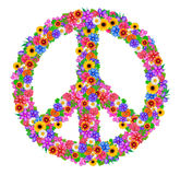 Sign peace from flowers Stock Photos