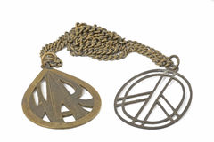 Sign peace pendant. Stock Photography