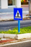 Sign a pedestrian crossing. Stock Photography