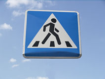 Sign of pedestrian crossing. Way to the heaven royalty free stock photo