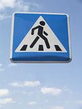 Sign of pedestrian crossing. Way to the heaven royalty free stock photos