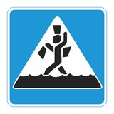 Sign. Pedestrian crossing during the flood. Vector format Stock Photography