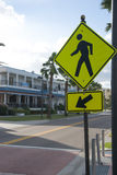 Sign for pedestrian crossing Stock Photography