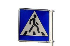 Sign pedestrian Royalty Free Stock Photos