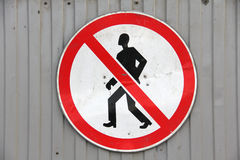 Sign for pedestrians Stock Images