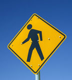 Sign Pedestrians Crossing Royalty Free Stock Photography