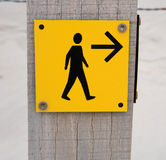 Sign for pedestrians Royalty Free Stock Image