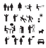 Sign of people life set.family group, work human pictograms Royalty Free Stock Photography