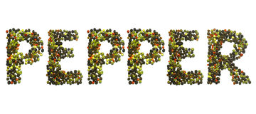 Sign pepper Royalty Free Stock Image
