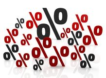Sign of percent Royalty Free Stock Image